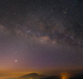 Milkyway on night sky. Royalty Free Stock Photo