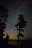 Milkyway och morgonrodnad Royaltyfria Bilder