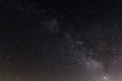 Milkyway och stjärnor i sydliga Spanien Royaltyfri Fotografi