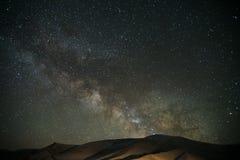 Milkyway over Tianshan-Berg Stock Foto's