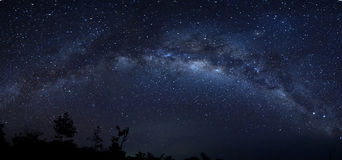 Milkyway. Panorama Milkyway during cear sky and new moon Stock Image