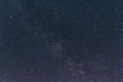 Milkyway and stars in southern spain Royalty Free Stock Image