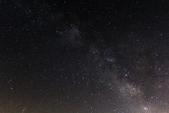 Milkyway and stars in southern spain Royalty Free Stock Photography