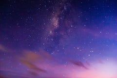 Milkyway sul cielo Fotografia Stock Libera da Diritti