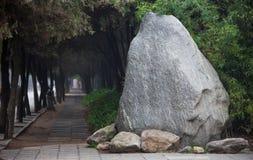 Millón de años de parque de piedra Shaulin China Imágenes de archivo libres de regalías