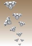 Millón de diamantes Imágenes de archivo libres de regalías