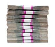 Millón de rublos - pila de cuentas en paquetes Fotografía de archivo libre de regalías