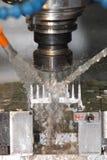 Mill. Cnc milling metal cutting detail Stock Photo