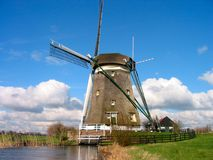 Mill. Windmill in Dutch landscape Stock Photography