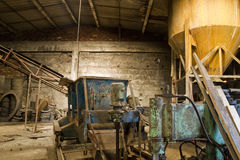 Mill 2. Abandoned factory interior. Economic Depression Royalty Free Stock Photography