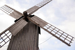 Mill. Old windmill on island the Muhu in Estonia Royalty Free Stock Image