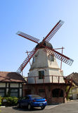 Mill. This is the photo of mill and car, Danish style, Solvang, California, USA Royalty Free Stock Photos