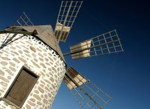Mill. La mancha windmill,Don Ququot mill Royalty Free Stock Image