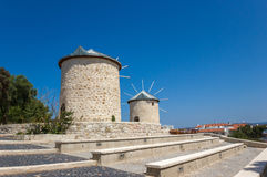 Mill in Alacati inTurkey Royalty Free Stock Images