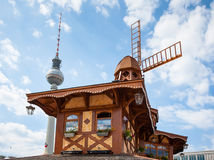 Mill on Alexanderplatz in Berlin Royalty Free Stock Photos