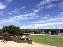 Mill Avenue Bridge over Salt Lake River, Tempe, AZ Stock Photos