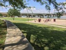 Mill Avenue Bridge over Salt Lake River, Tempe, AZ Royalty Free Stock Photography