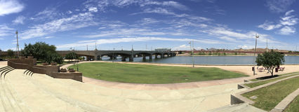 Mill Avenue Bridge over Salt Lake River, Tempe, AZ Royalty Free Stock Image