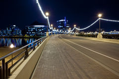 Mill Avenue Bridge to Downtown Tempe Arizona Stock Photo