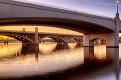 Mill Avenue Bridges in Phoenix Stock Images