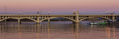 Mill Avenue Bridges in Tempe Royalty Free Stock Images
