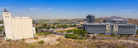 A Mill Avenue and Rio Salado Parkway Shot Royalty Free Stock Photos
