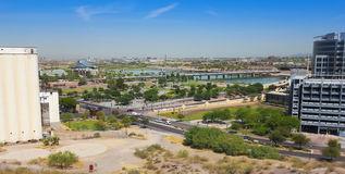 A Mill Avenue and Rio Salado Parkway Shot stock photo