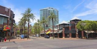 A Mill Avenue Street Scene, Tempe, Arizona Stock Photo