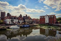 Tewkesbury Mill Avon Royalty Free Stock Photos