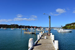 Mill bay in Mangonui harbor - New Zealand Royalty Free Stock Image