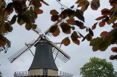 Mill behind tree Royalty Free Stock Photos