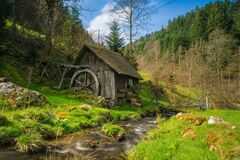 Mill, Black Forest, Bach, Water Stock Photos