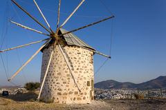 Mill at Bodrum, Turkey royalty free stock photography