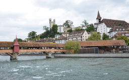 Mill Bridge in Lucerne Royalty Free Stock Photo