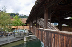 Mill Bridge in Lucerne Stock Photography