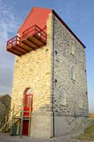 A mill building converted to modern offices. st agnes, cornwall. mining royalty free stock photos
