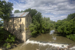 Mill at Cedar Point, Kansas Stock Photo