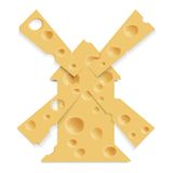Mill and cheese Stock Photography