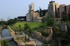 Mill City Museum in Minneapolis, MN. Mill City Museum landmark in Minneapolis, MN Stock Photography