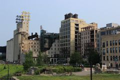 Mill City Museum in Minneapolis. Mill City Museum tourist attraction in Minneapolis, MN Stock Image