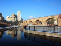Mill City Ruin park in Minneapolis Stock Image