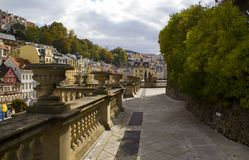 Mill Collonnade View in Karlovy Vary,Czech famous SPA place Stock Photography