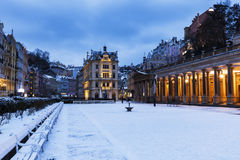 Mill Colonnade in Karlovy Vary Stock Images