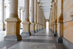 The Mill colonnade in Karlovy Vary (Carlsbad) Royalty Free Stock Photo