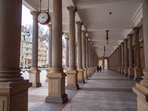 Mill colonnade in Karlovy Vary Royalty Free Stock Photo