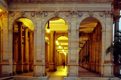 Mill Colonnade, Karlovy Vary, Czech Republic. NInside the largest colonnade rises five mineral springs: Mill Spring, spring Rusalka, The Prince Wenceslas stock photography