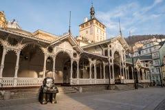 Mill colonnade (Mlynska kolonada) in Karlovy Vary, the Czech Republic Stock Photography