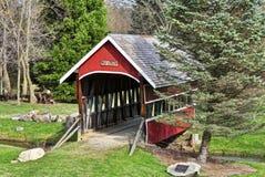 Mill Creek Bridge. Historic Mill Creek bridge in Hadley Michigan stock photo