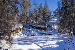 Mill Creek ravine, Edmonton, Alberta, Canada Stock Image