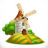 Mill. 3d vector icon Royalty Free Stock Photos